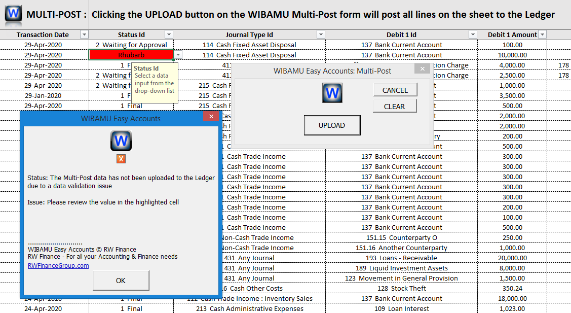 18. WIBAMU - Multi-Post, failed validation